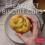 Breakfast Biscuit Cups