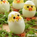 Easter Chick Deviled Eggs