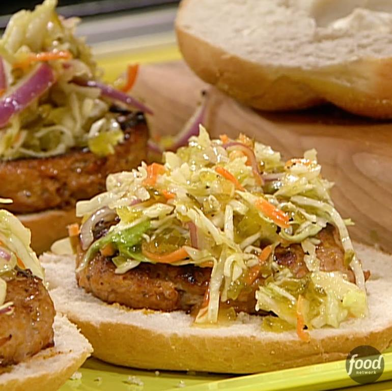 Bbq Chicken Burgers With Slaw Cooking Tv Recipes