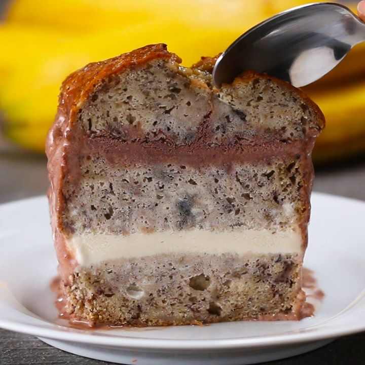 Banana bread ice cream cake cooking tv recipes author the chef forumfinder Images