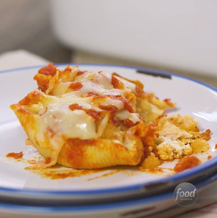 Chicken parmesan stuffed shells cooking tv recipes keep this trick in your recipe box the next time you want to make chicken parmesan in a flash forumfinder Choice Image