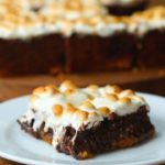 Caramel S'mores Brownies