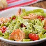 Fresh Spinach & Shrimp Pasta