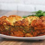 Pesto Chicken-stuffed Garlic Bread