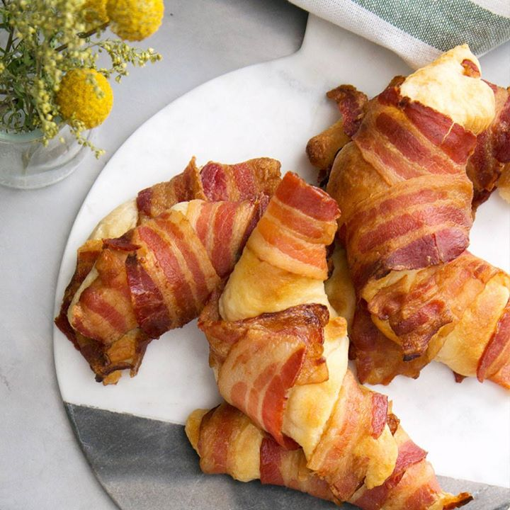 Bacon Wrapped Scrambled Eggs