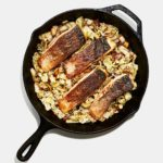 Crispy-Skin Salmon with Napa Cabbage