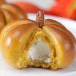 Cream Cheese-Stuffed Pumpkin Dinner Rolls