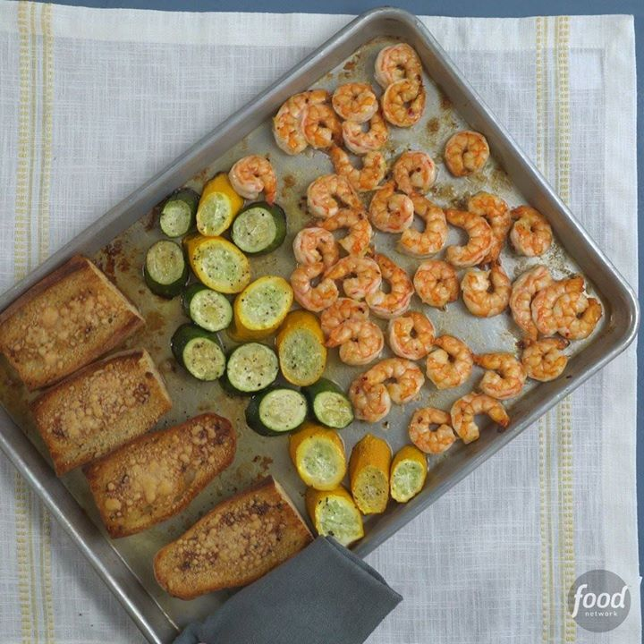 Food network archives cooking tv recipes food network sheet pan shrimp scampi forumfinder Gallery