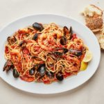 Seafood Spaghetti with Mussels and Shrimp