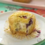 Cheesecake-Stuffed Blueberry Muffin