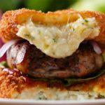 Mashed Potato Bun Bacon Burger