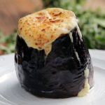 Moussaka Stuffed Eggplant Cups