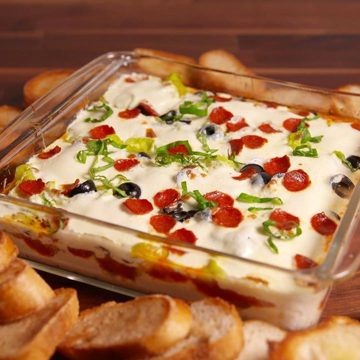 Pizza Seven Layer Dip