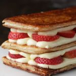 Layered Strawberry Cream Puff Cake (Mille-Feuille)
