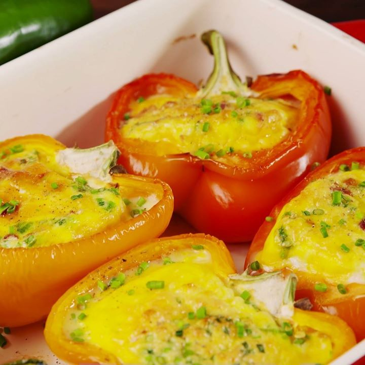 Omelet stuffed peppers cooking tv recipes forumfinder Image collections