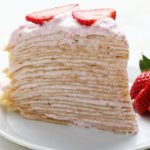 Strawberry Banana Crepe Cake