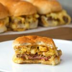 Cheesy Chips Steak Sliders