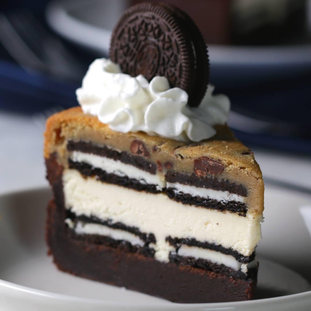 20 Layer Cookie 'Box' Brownie Cheesecake