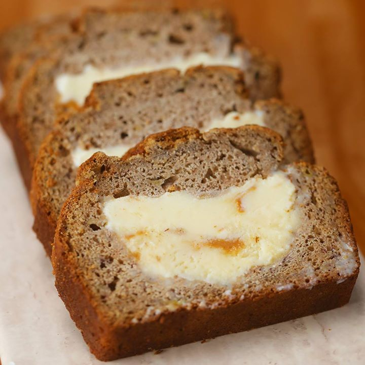 Ice cream stuffed banana bread cooking tv recipes author the chef forumfinder Image collections