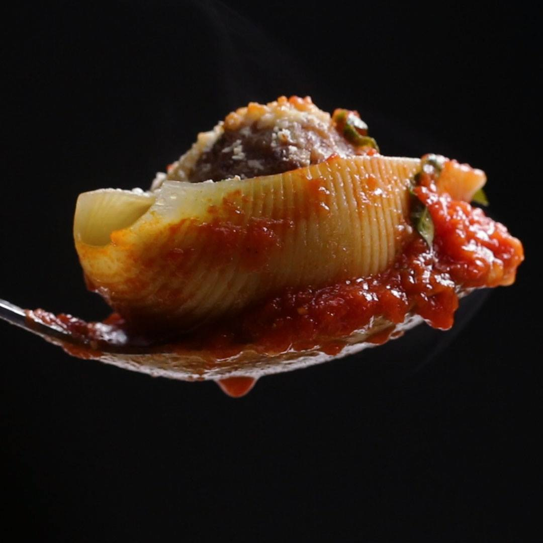 Meatball stuffed shell pasta cooking tv recipes meatball stuffed shell pasta forumfinder Images