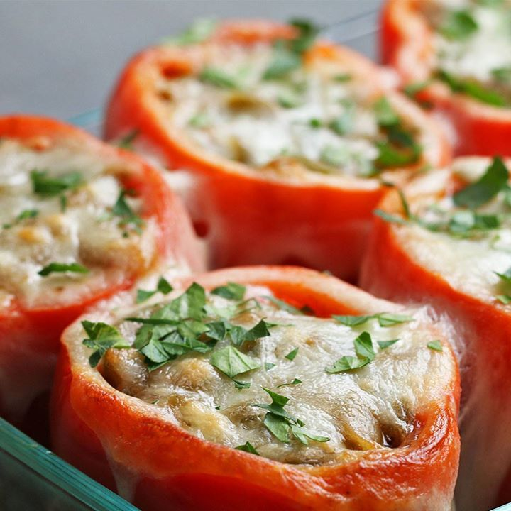 Cheesesteak stuffed peppers cooking tv recipes cheesesteak stuffed peppers forumfinder Image collections