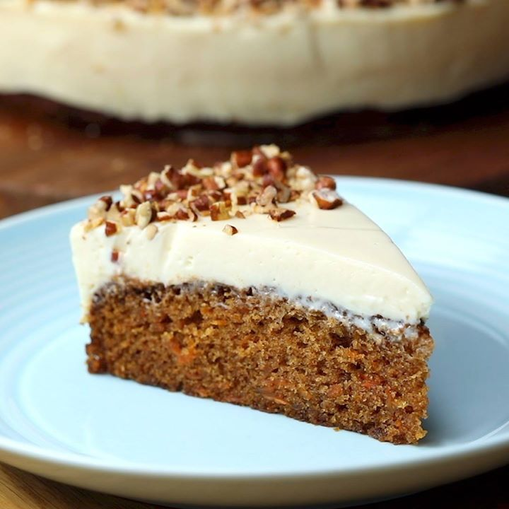 Carrot cake bottom cheesecake cooking tv recipes its basically our two favourite cakes in one its delicious the cake is super moist and the cheesecake ultra creamy definitely one to put on your list forumfinder Images