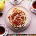 Strawberry Rose Crepe Cake