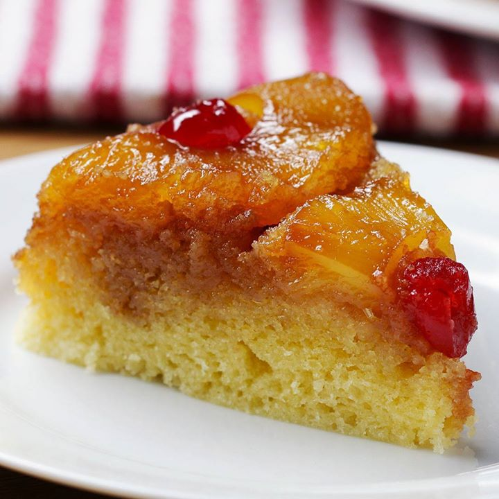 Rice Cooker Upside-Down Pineapple Cake