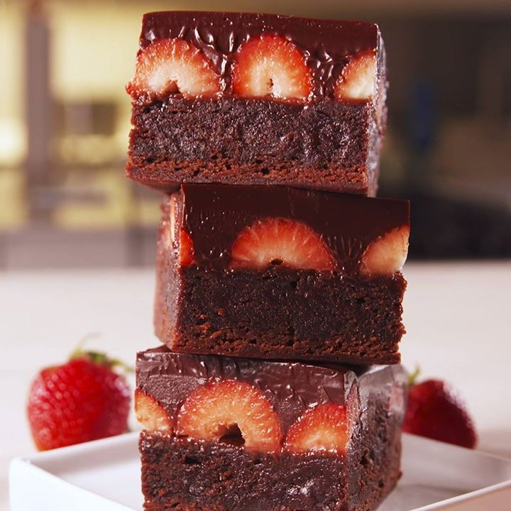 Chocolate Covered Strawberry Brownies Cooking Tv Recipes