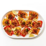 Roasted Peppers with Parm Breadcrumbs