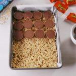 Reese's Stuffed Rice Krispies Treats
