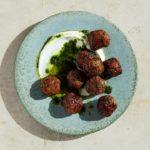 Lamb Meatballs with Raisin Pesto
