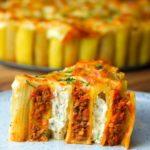 Lasagna Stuffed Rigatoni Pie