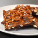 Salted Caramel Chocolate Pretzel Bark