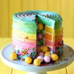 Rainbow Candy Surprise Cake