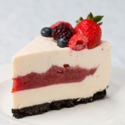 Ice Cube Summer Berry Cheesecakes