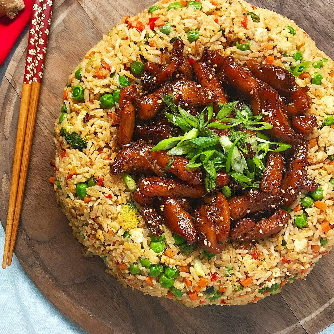 Teriyaki chicken fried rice dome cooking tv recipes teriyaki chicken fried rice dome forumfinder Images