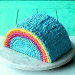 Rainbow Piñata Cake