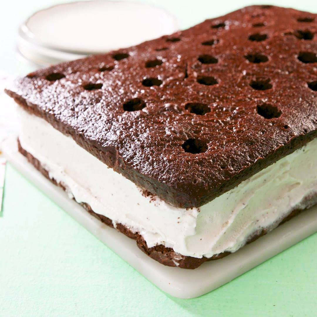 Giant Ice Cream Sandwich Cooking Tv Recipes