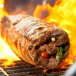 Grilled Thai Curry Beef Roll