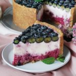 Marbled No-Bake Blueberry Cheesecake