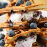 Blueberry Waffle Ice Cream Sandwiches