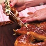 Giant Spinach Dip-Stuffed Pretzel