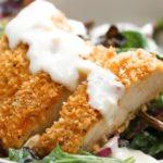Creamy Garlic Parmesan Crispy Chicken Salad