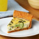 Cheddar-Crusted Bacon Broccoli Quiche