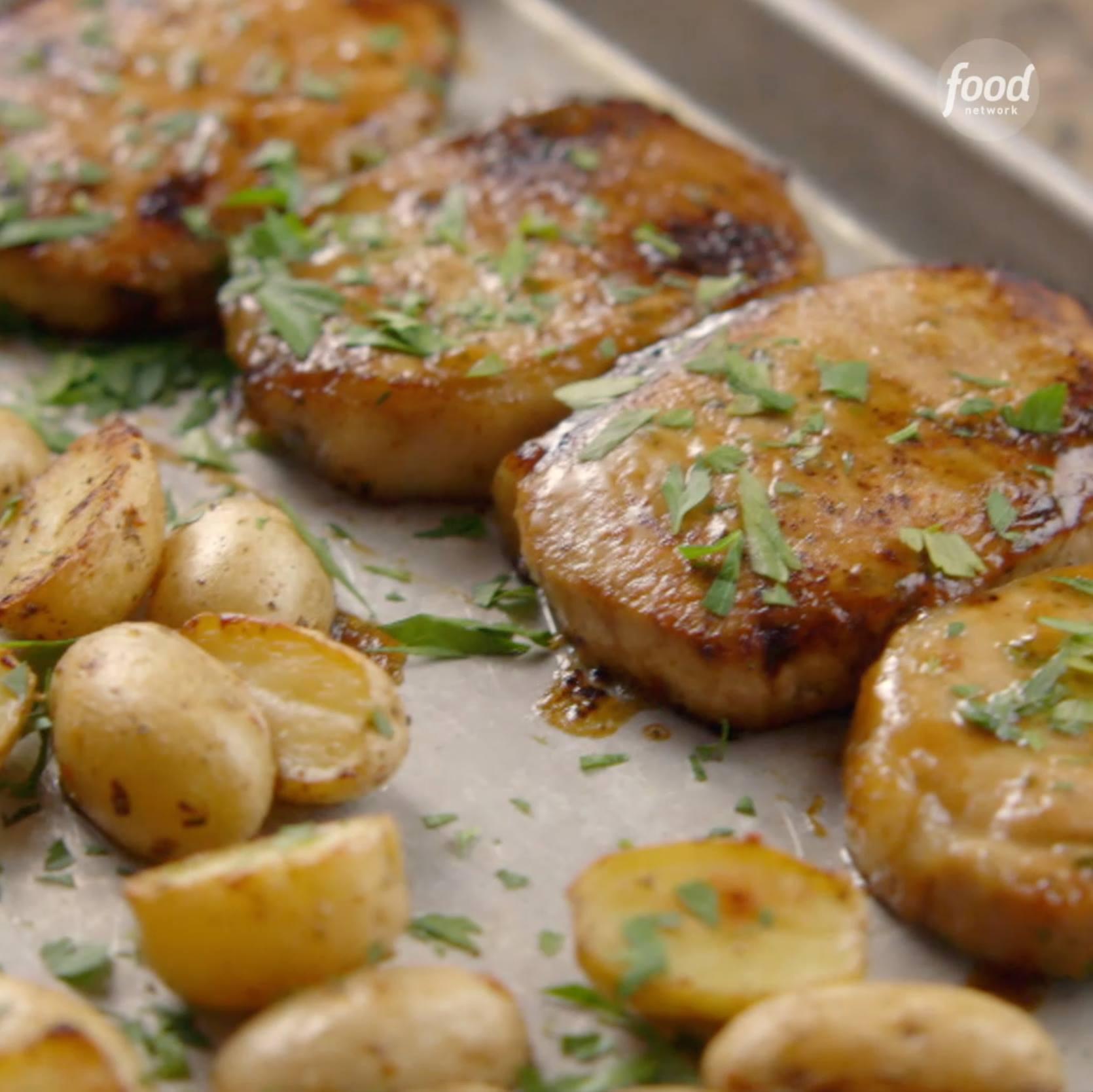 Ranch Pork Chop Sheet Pan Supper Cooking Tv Recipes