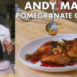 Pomegranate-Glazed Chicken with Buttery Pine Nuts