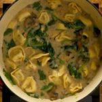 Spinach Mushroom Tortellini Soup