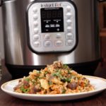 Instant Pot Russian Garlicky Beef and Rice