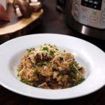 Instant Pot Balsamic Mushroom Risotto